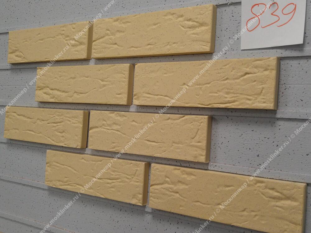 Плитка-клинкер под кирпич Roben, Rimini, цвет желтый (gelb), мерейная, с песочной пылью (genarbt, besandet)