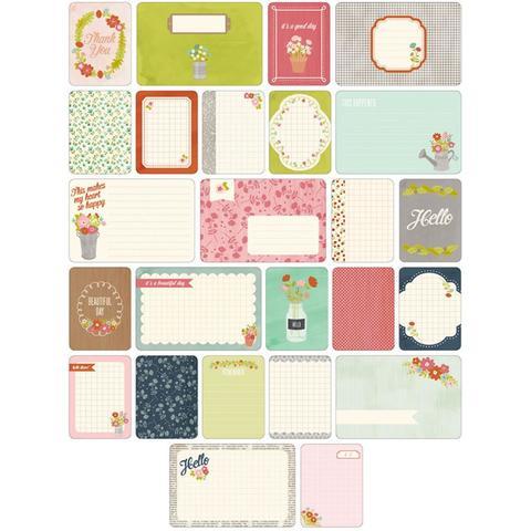 Набор карточек Project Life - Floral 60 шт