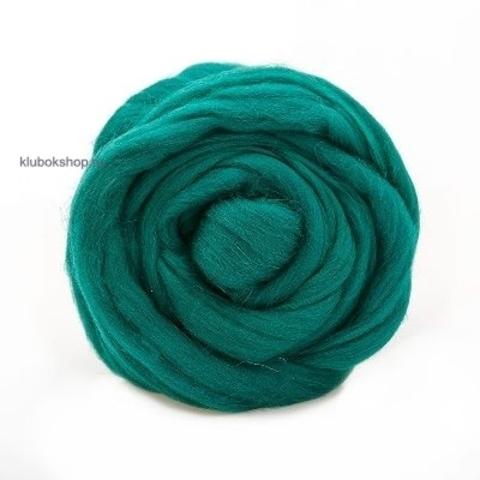 Шерсть для валяния Полутонкая (Троицкая) 2286 Зеленый луг