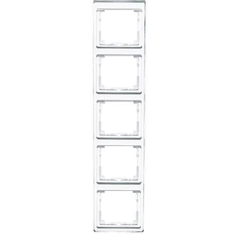 Рамка на 5 постов, вертикальная. Цвет Белый. JUNG SL. SL585WW