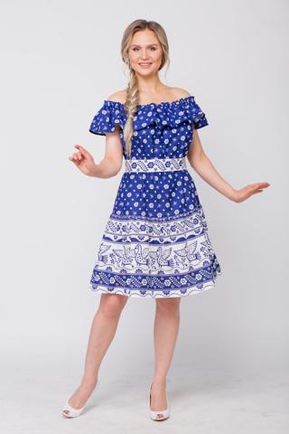 Платье льняное Жар-птица с поясом