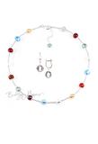 Комплект Carnavale Argento Piccolo (серебристые серьги на серебре, ожерелье)