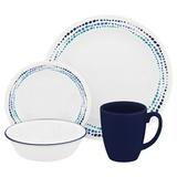 Набор посуды Ocean Blues 16 пр, артикул 1119403, производитель - Corelle