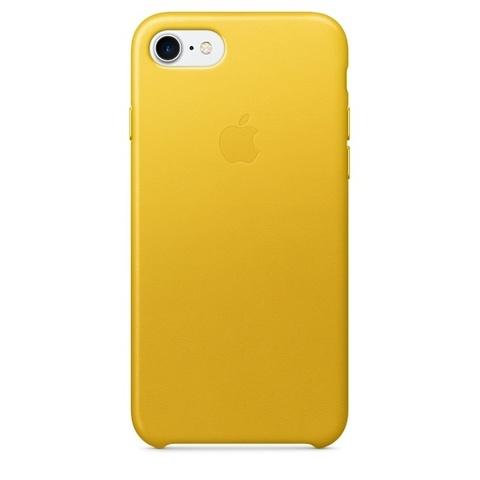 Чехол iPhone 7 Leather Case /spring yellow/