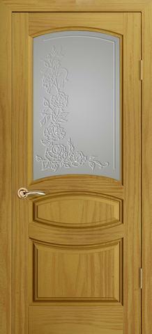 Дверь Океан Neo Classica Изабелла , стекло белое, цвет ясень шервуд, остекленная