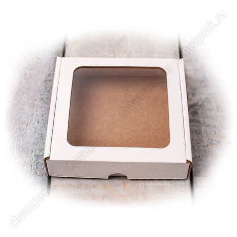 Упаковка с окном для фасовки шоколадных конфет, пряников