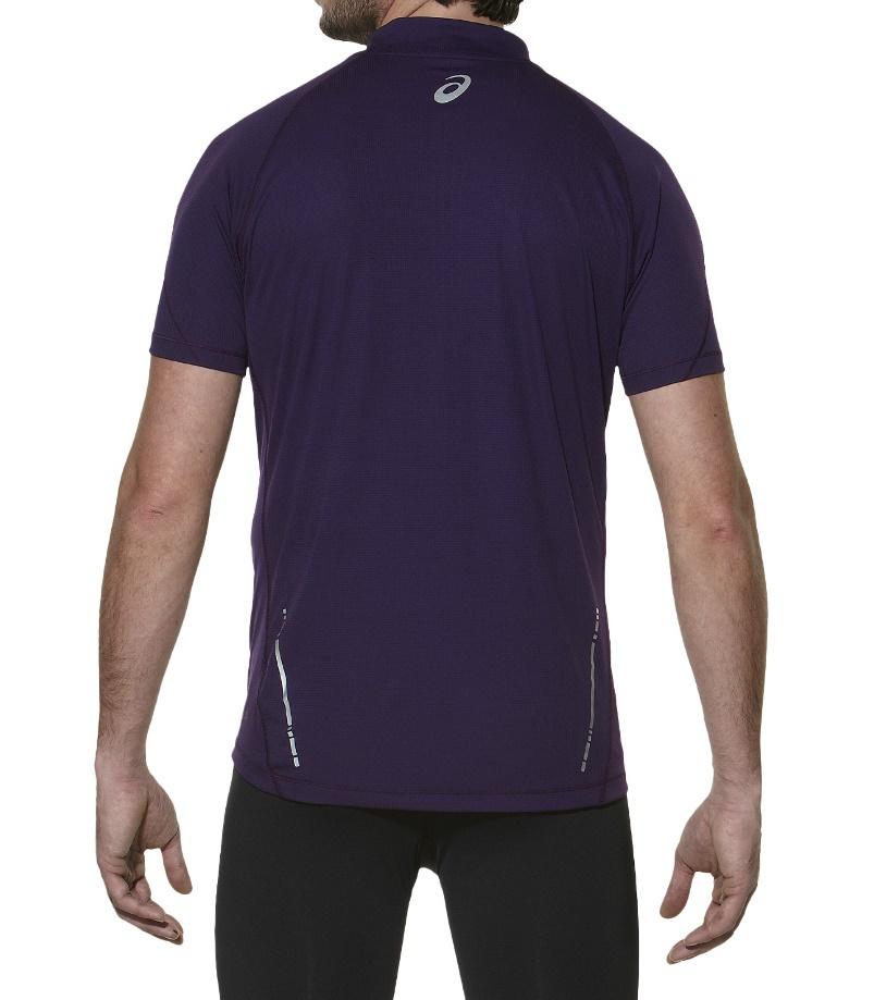Мужская беговая футболка Asics SS 1/2 Zip Top (110409 0291) фиолетовая фото