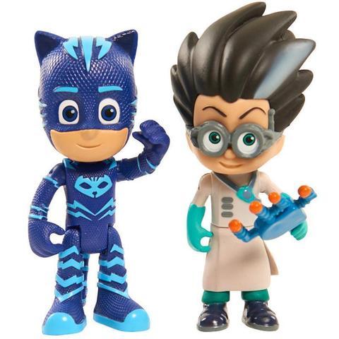 Набор из 2 фигурок Кэт Бой (Cat boy) и Ромео (Romeo) - Герои в Масках,  PJ Masks