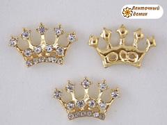 Декор стразовая корона на золоте