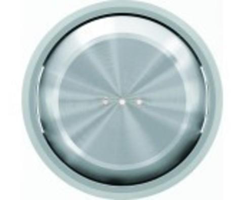 Переключатель одноклавишный с подсветкой. Цвет Хром. ABB Skymoon. 8102+2CLA860130A1401+2CLA819202A1001