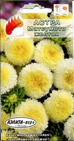 Семена Цветы Астра Матсумото желтая