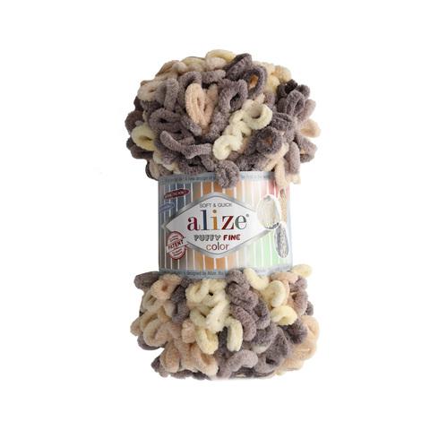 Купить Пряжа Alize Puffy Fine Color | Интернет-магазин пряжи «Пряха»