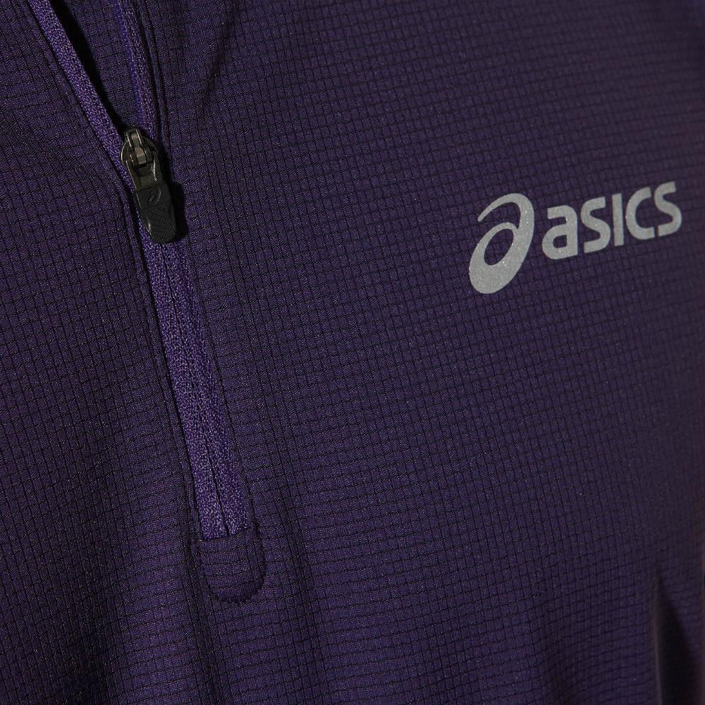 Мужская беговая футболка асикс SS 1/2 Zip Top (110409 0291) фиолетовая