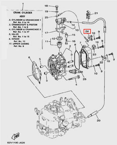 Зажим для лодочного мотора F5 Sea-PRO(2-24)