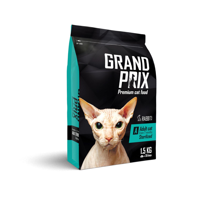 Сухой корм Сухой корм для кошек, GRAND PRIX Adult Sterilized, с кроликом 73460.jpg