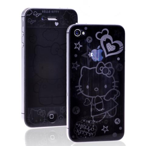 """Пленка защитная 3D для iPhone 4G/4S """"HELLO KITTY"""" 2 стороны"""