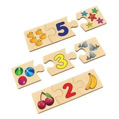 Развивающая игра-пазл из дерева Цифры-счет, Анданте