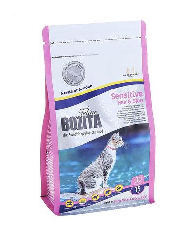 BOZITA Feline Sensitive Hair & Skin сухой корм для кошек для здоровой кожи и шерсти 400 г