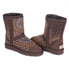 UGG & Jimmy Choo Snow Boots Mandah Chocolate