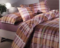 Постельное белье 2 спальное евро Caleffi Nevada коричневое
