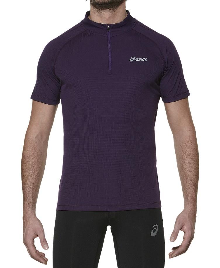 Мужская беговая футболка Asics SS 1/2 Zip Top (110409 0291)