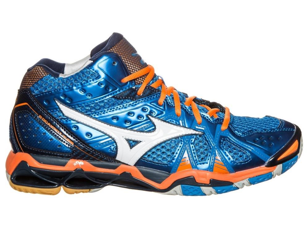 Мужские волейбольные кроссовки Mizuno Wave Tornado 9 Mid (V1GA1417 22) синие 7d7904ab214
