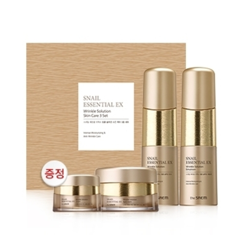THE SAEM Snail Essential EX Wrinkle Solution Skin Care 3 Set Набор