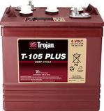 Тяговый аккумулятор Trojan T105+ ( 6V 225Ah / 6В 225Ач ) - фотография