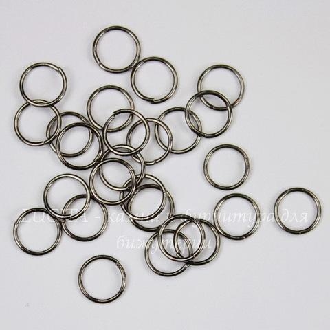 Комплект колечек одинарных 8х0,7 мм (цвет - черный никель), 20 гр (примерно 265 шт)