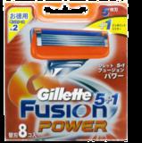 Сменные лезвия Gillette Fusion Power 8 шт из Японии