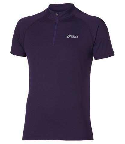 Беговая футболка Asics SS 1/2 Zip Top мужская фиолетовая