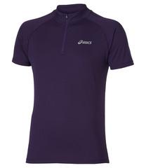 Мужская беговая футболка Asics SS 1/2 Zip Top (110409 0291) фиолетовая