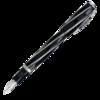 перьевая ручка visconti salvador dali темно синий перо m vs 664 18m Перьевая ручка Visconti Divina Black Over черная ребра 925 пр перо палладий 23 Кт (VS-263-02F)