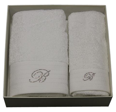 Набор полотенец 2 шт Blumarine Crociera белый