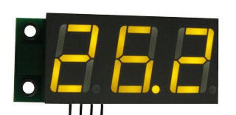 Миниатюрный цифровой встраиваемый амперметр (до 50 А) постоянного тока.. Арт. EK-SAH0012UY-50)