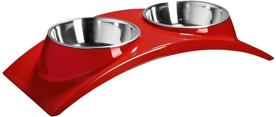 Новинки Миска двойная на меламиновой подставке «Элеганс» 2х160 мл красная, SuperDesign 60012.jpg