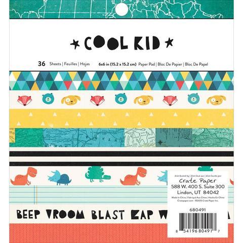 Набор бумаги 15х15см Cool Kid от Crate Paper