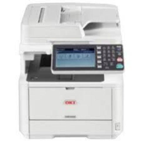 МФУ OKI MB492dnw - монохромная лазерная печать, формат А4, скорость 47 стр, автоподатчик и дуплекс, встроенный степлер ethernet (45762112)
