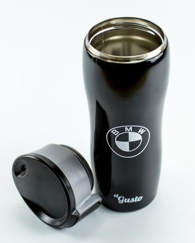 Термокружка el Gusto с логотипом «BMW», черная 470 мл