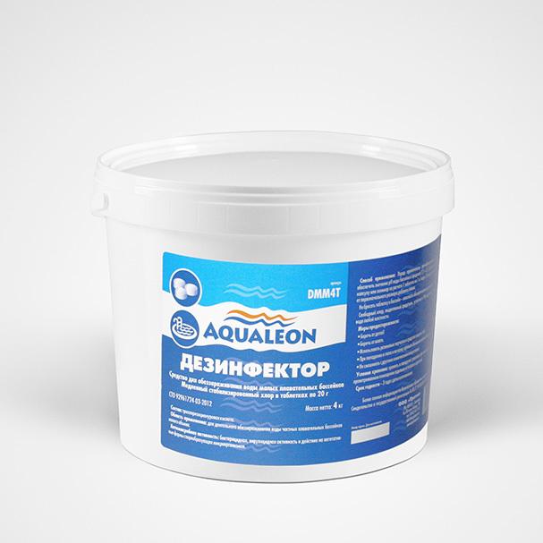Aqualeon Дезинфектор МСХ КД (в таблетках 20 г) 4 кг
