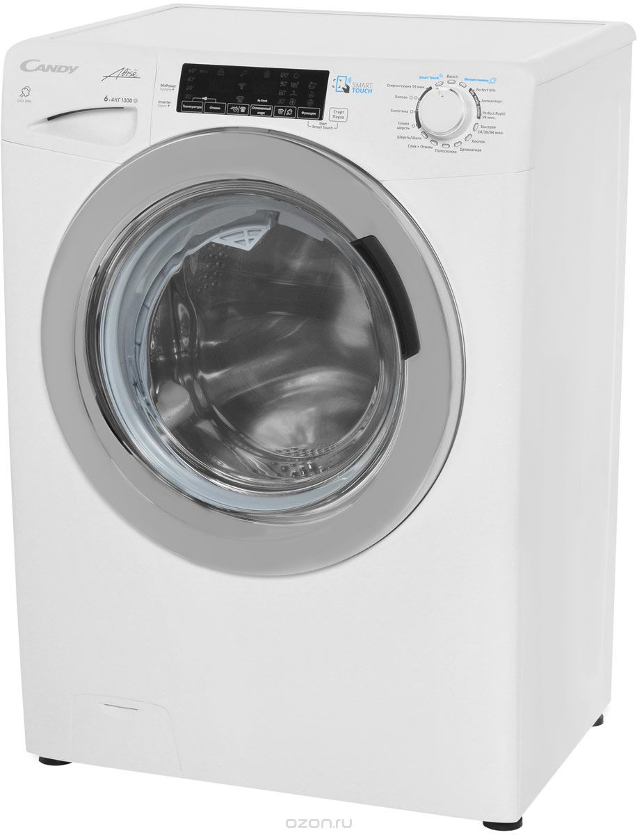 Узкая стиральная машина с сушкой Candy GrandO Vita Smart GVSW4 364TWHC-07 фото