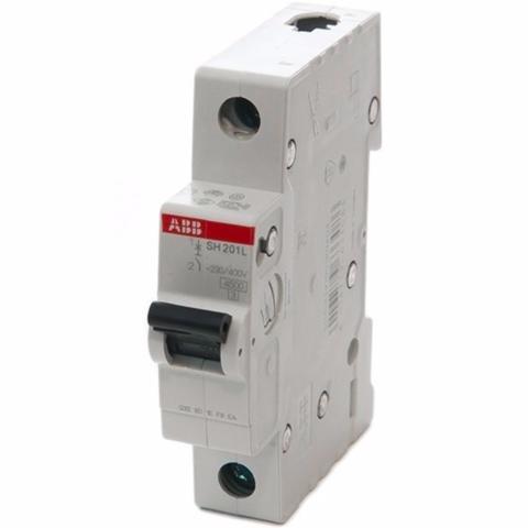 Автоматический выключатель 1-полюсный 25 A, тип C, 4,5 кА SH201L C25. ABB. 2CDS241001R0254