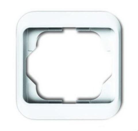 Рамка на 1 пост. Цвет Белый глянцевый. ABB(АББ). Alpha Nea(Альфа Ние). 1754-0-4503