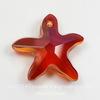 6721 Подвеска Сваровски Морская Звезда Crystal Red Magma (20 мм)