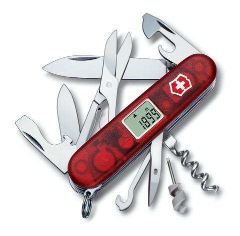 Складной нож Victorinox Traveller (1.3705.AVT) 91 мм., 27 функций, с электронным многофункциональным дисплеем - Wenger-Victorinox.Ru