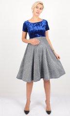 Евромама. Платье для беременных праздничное велюр люрекс, василек