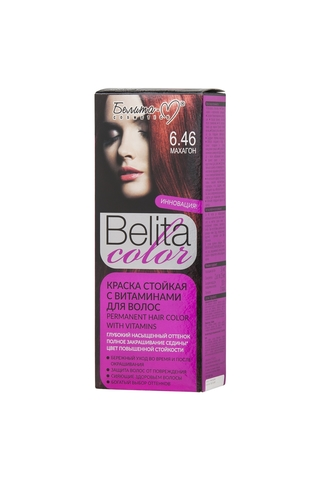 Белита-М Belita Color Стойкая краска с витаминами для волос тон №06.46 Махагон
