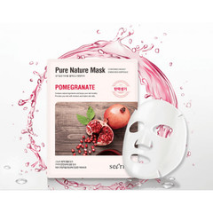 Маска для лица тканевая ANSKIN Secriss Pure Nature Mask Pack-Pomeganate 25 мл