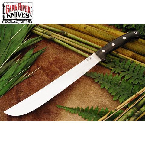 Нож Bark River Golok модель Upswept Black Canvas Micarta