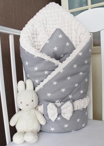 Зимнее одеяло - конверт на выписку Звездочка